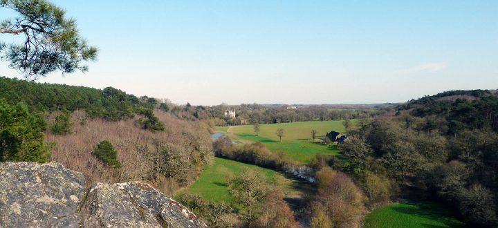 Promenade au rocher des amoureux - vallée du don - Guémené-Penfao - Loire-atlantique - pays de Redon