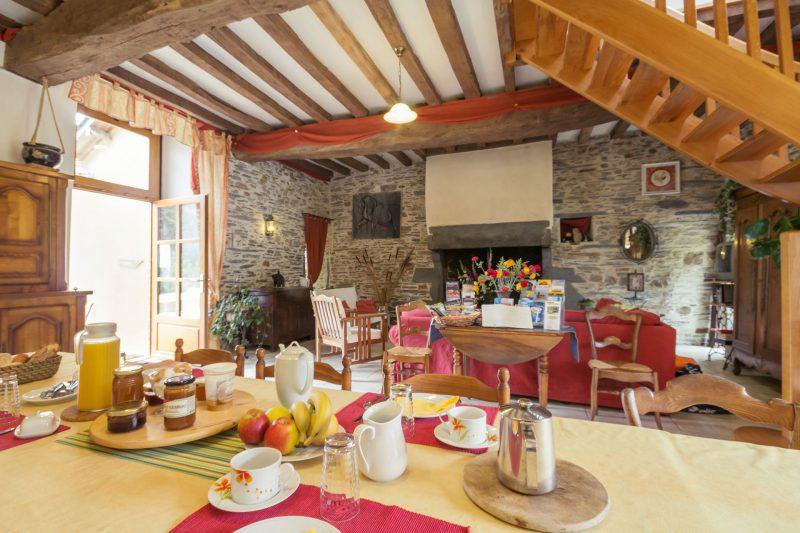 Maison d'hôtes petit-déjeuner Les Roseaux de Callac Convivialité Guémené-Penfao 44 loire atlantique