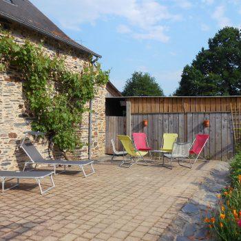 Espace détente terrasse maison d'hôtes Les Roseaux de Callac Guémené-Penfao 44 Pays de Redon